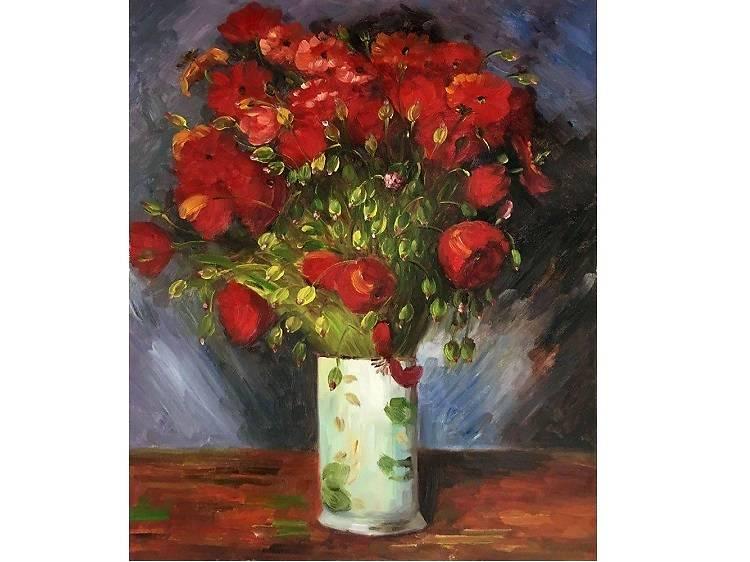 Vase with Poppies, Vincent van Gogh (1886)