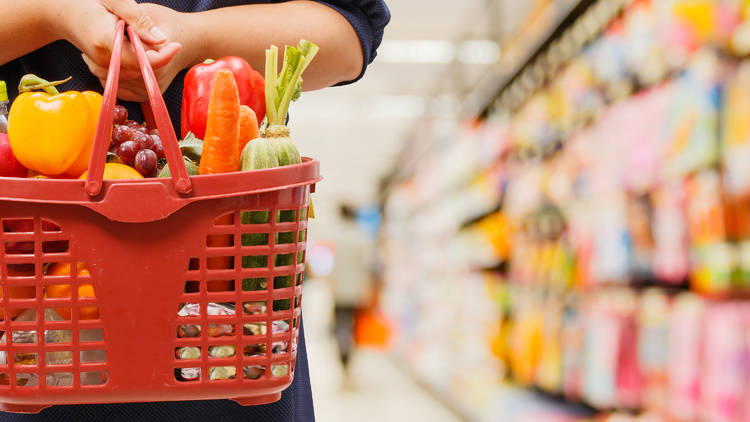 Shutterstock, grocery shopping
