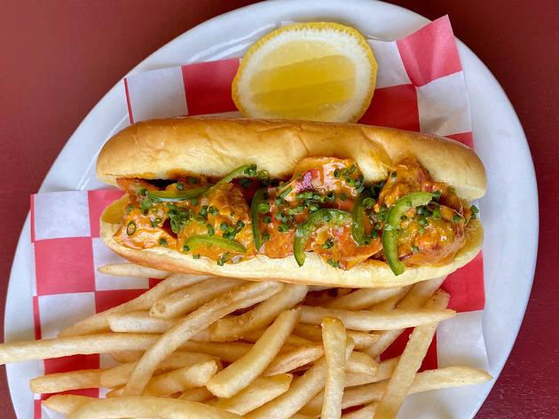 Found Oyster Hollywood lobster roll