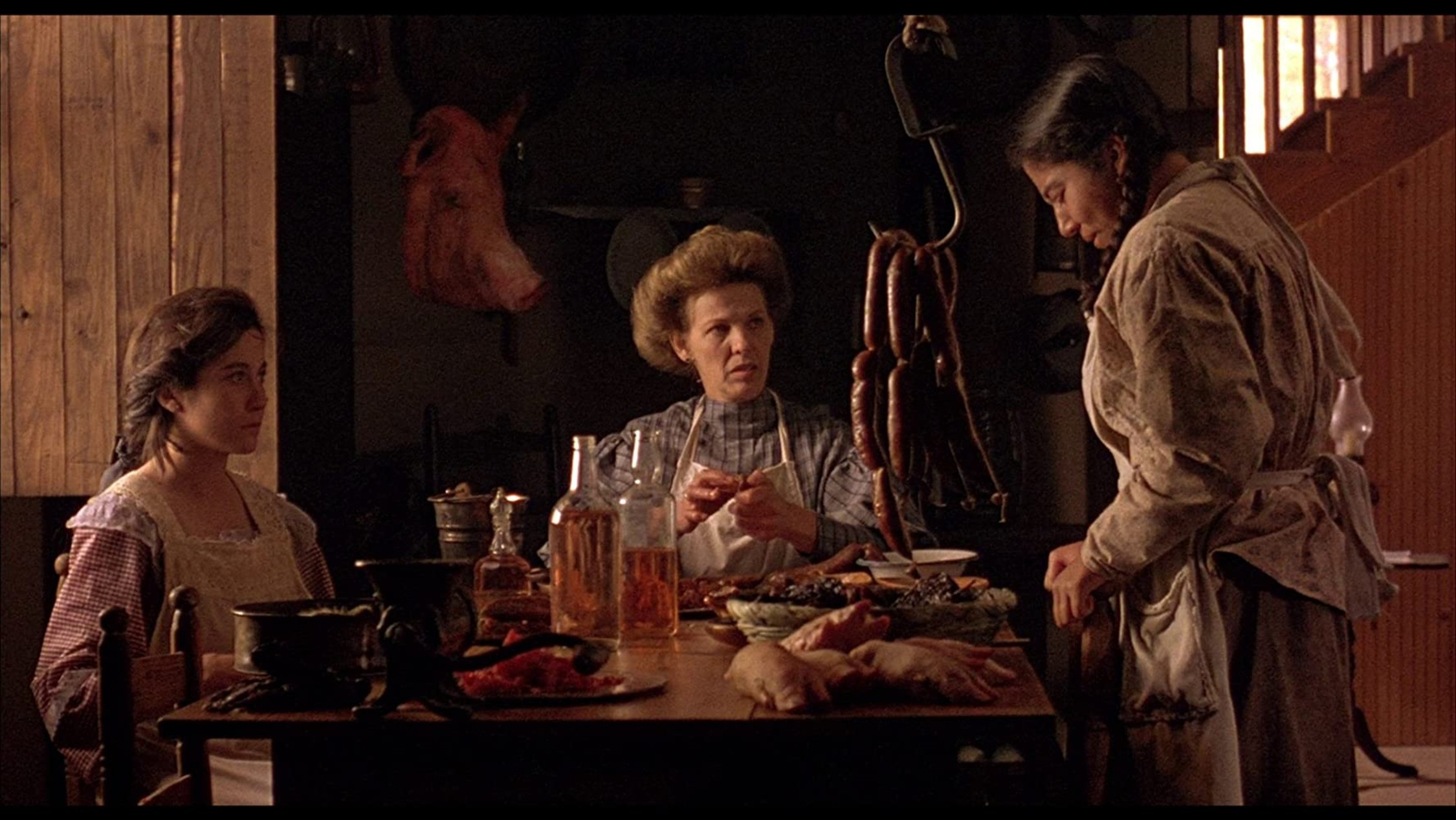 Three women at a table