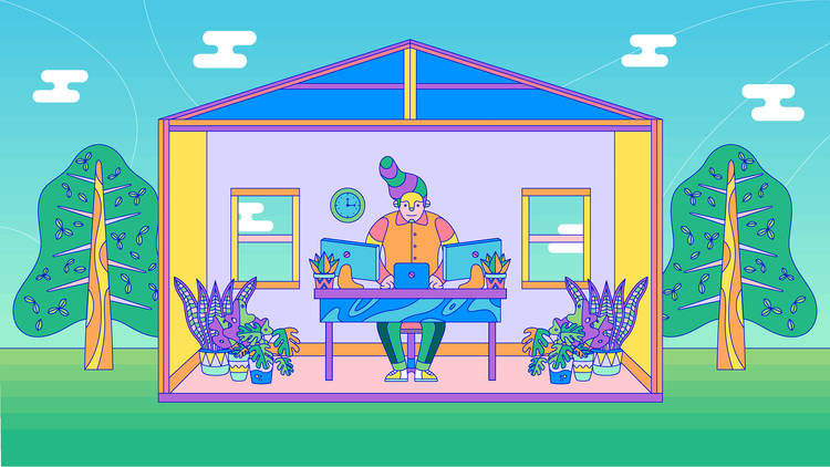 Working From Hom illustration