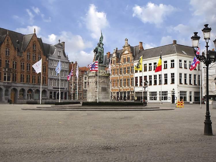 Market Square en Brujas