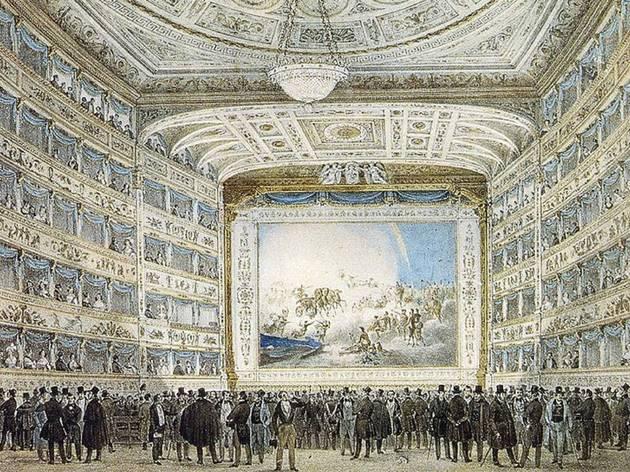 Pintura, Teatro, La Fenice, Interior