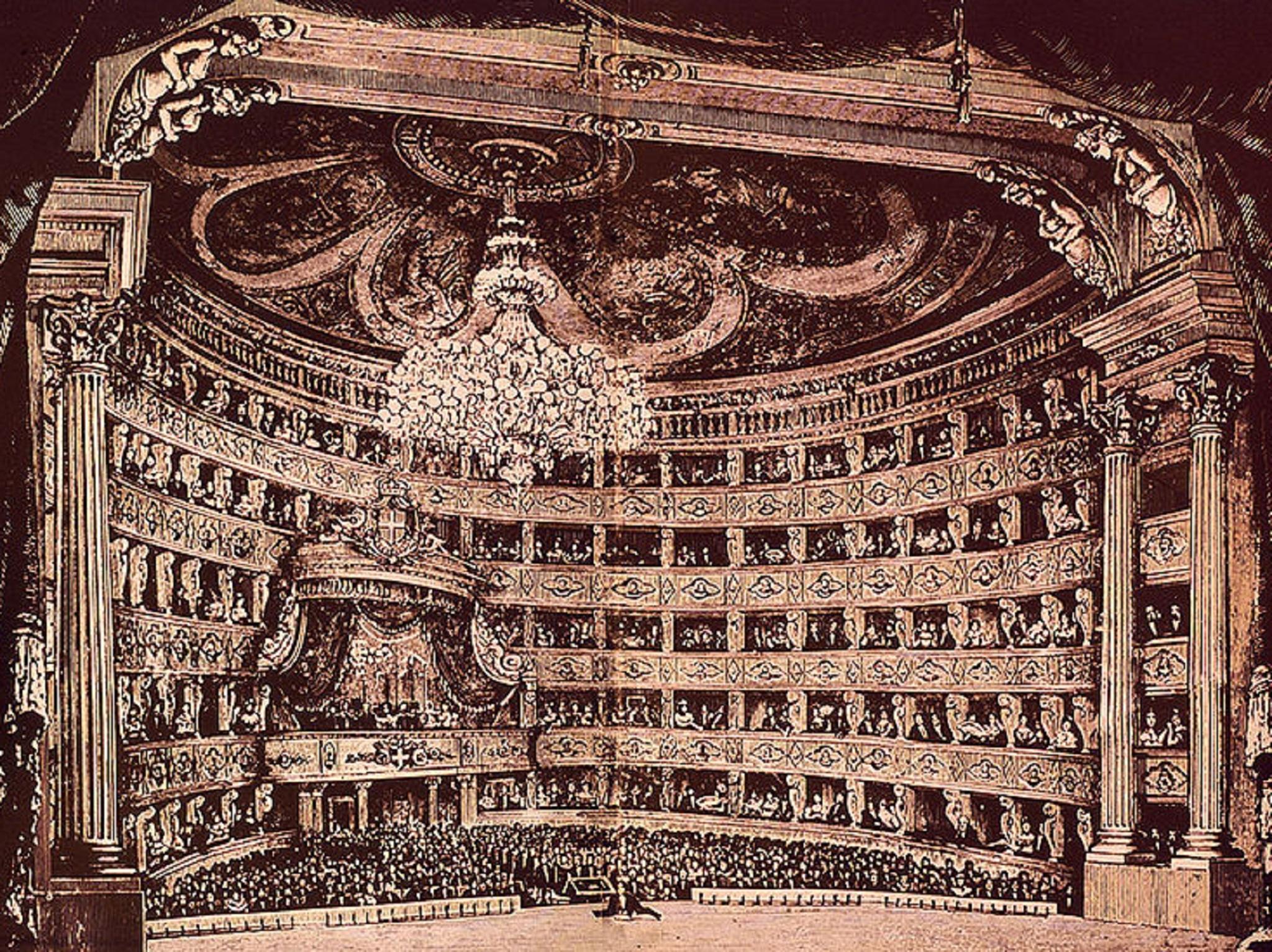 Pintura, Teatro,Teatro Regio de Turim, c.1850