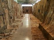 Ibrahim Mahama's stunning art din Cockatoo Island Turbine Hall