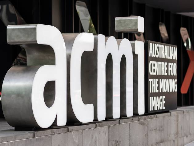 The ACMI sign at Federation Square