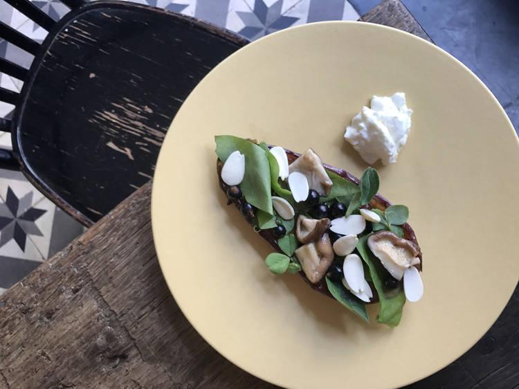 #FondDePlacard5 - L'aubergine rôtie au beurre, sauce aigre douce de Bertrand Grébaut