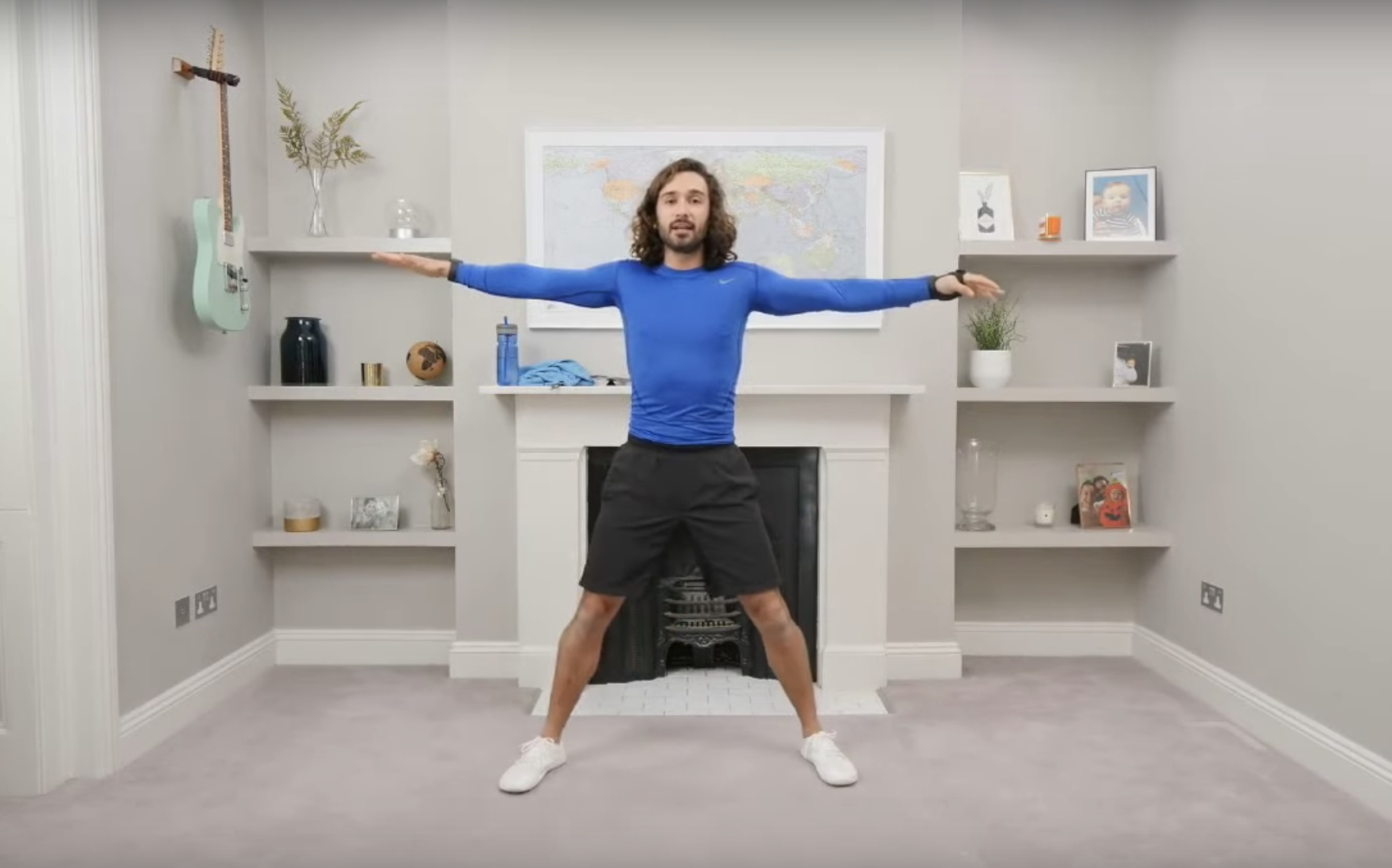 Joe Wicks doing PE lessons for kids on YouTube