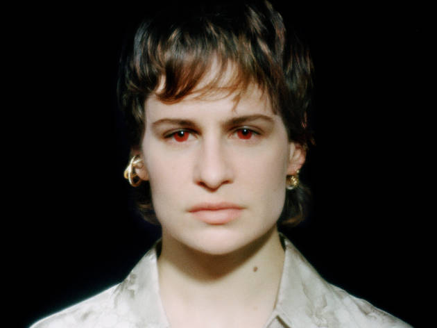 Christine And The Queens, publicity shot with red eyes