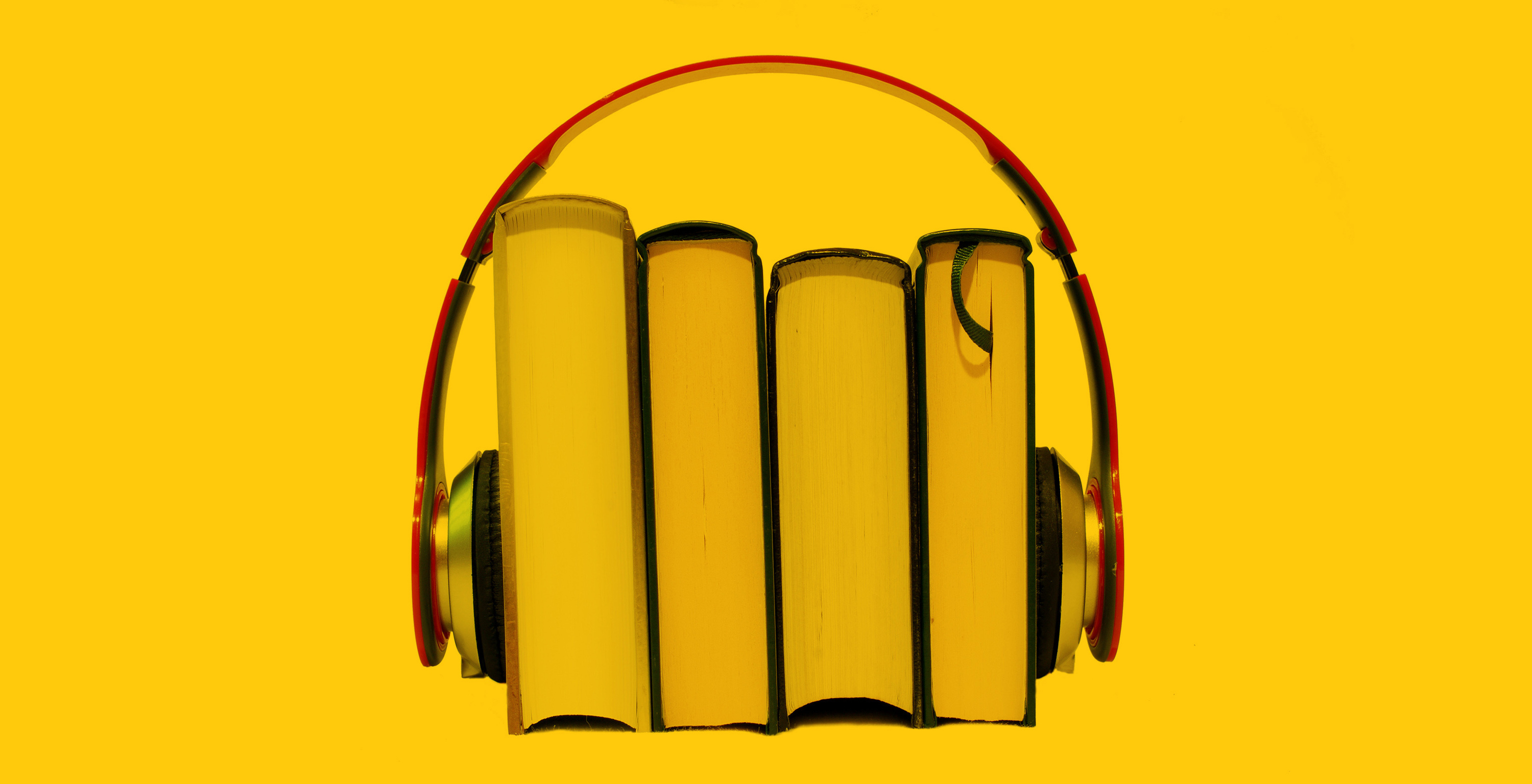 Audiobooks: books and headphones