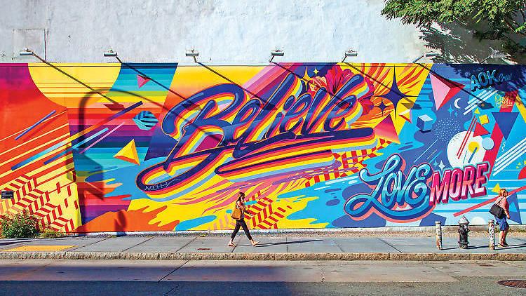 coronavirus, New York City, street art, murals, Banksy, Keith Haring