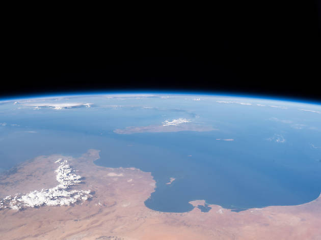 A view from space of Mediterranean coasts of Tunisia and Libya and the Italian island of Sicily I Photo from International Space Station