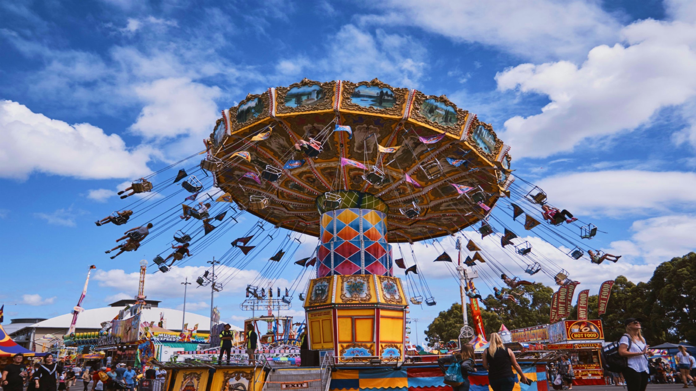 Colourful ride at the Easter show