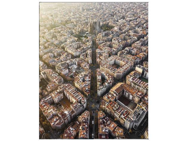 Vista aèria de l'Eixample de Barcelona