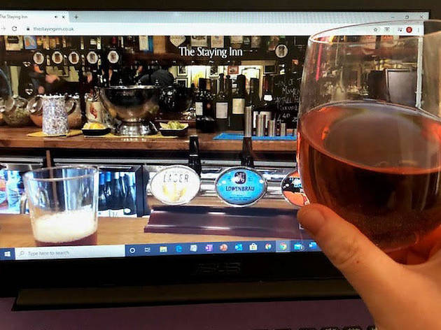 You can sit at the bar of this virtual pub tonight