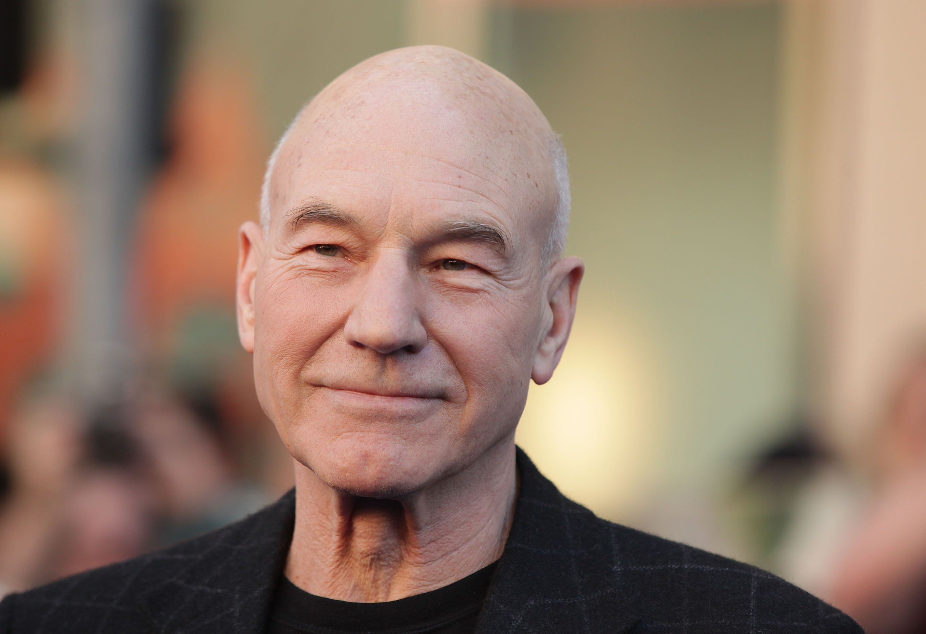 Patrick Stewart on the red carpet