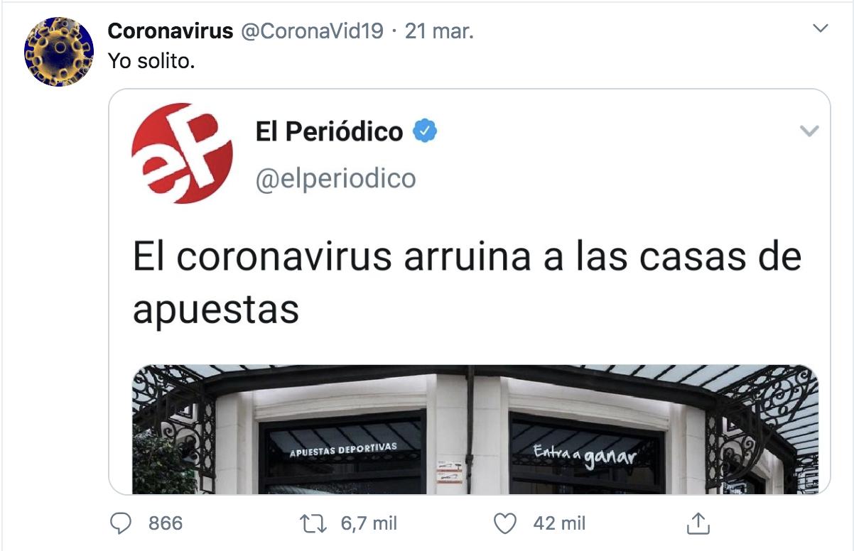 Coronavirus meme Twitter