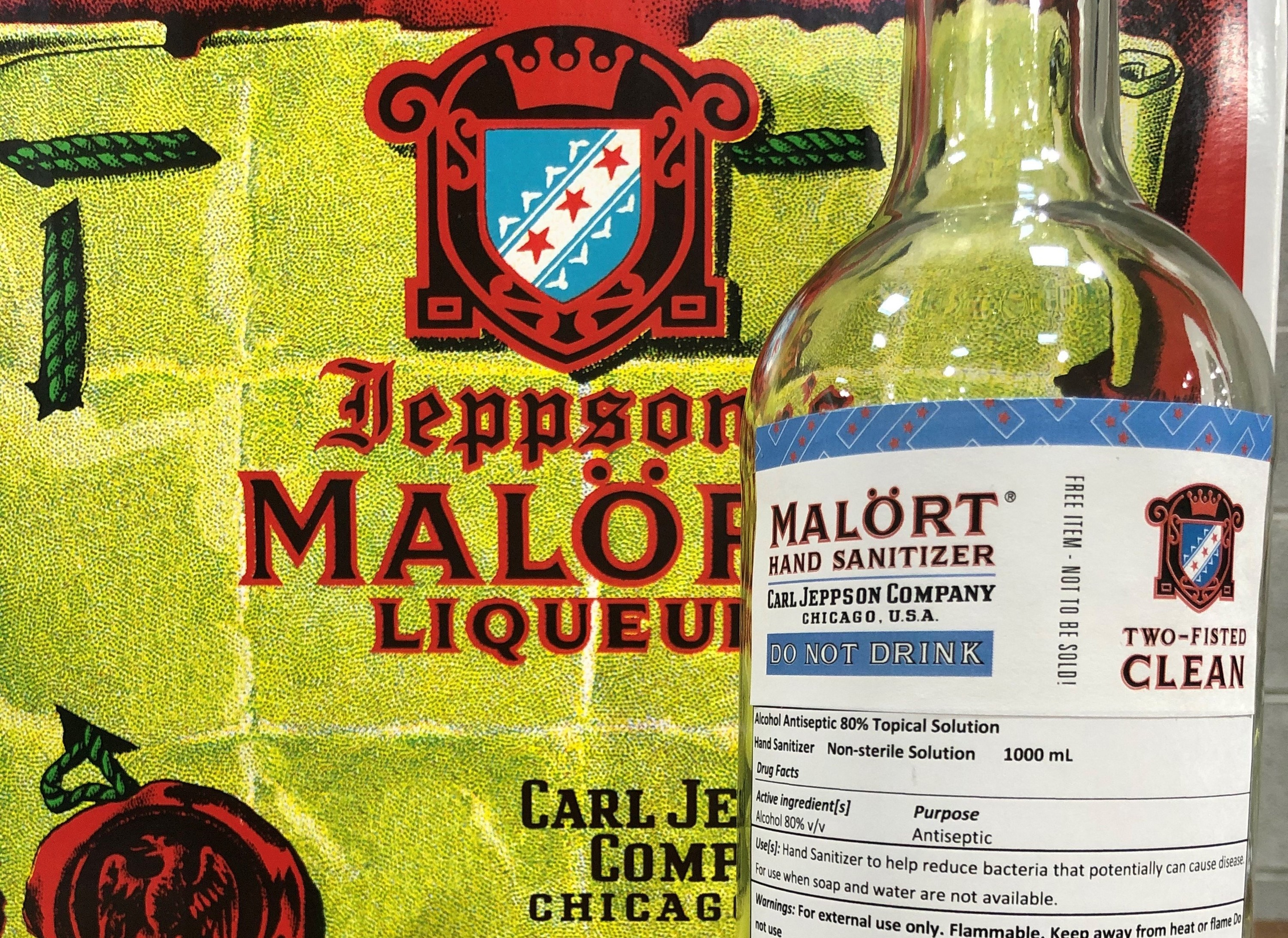 CH Distillery is making Malört hand sanitizer for healthcare organizations