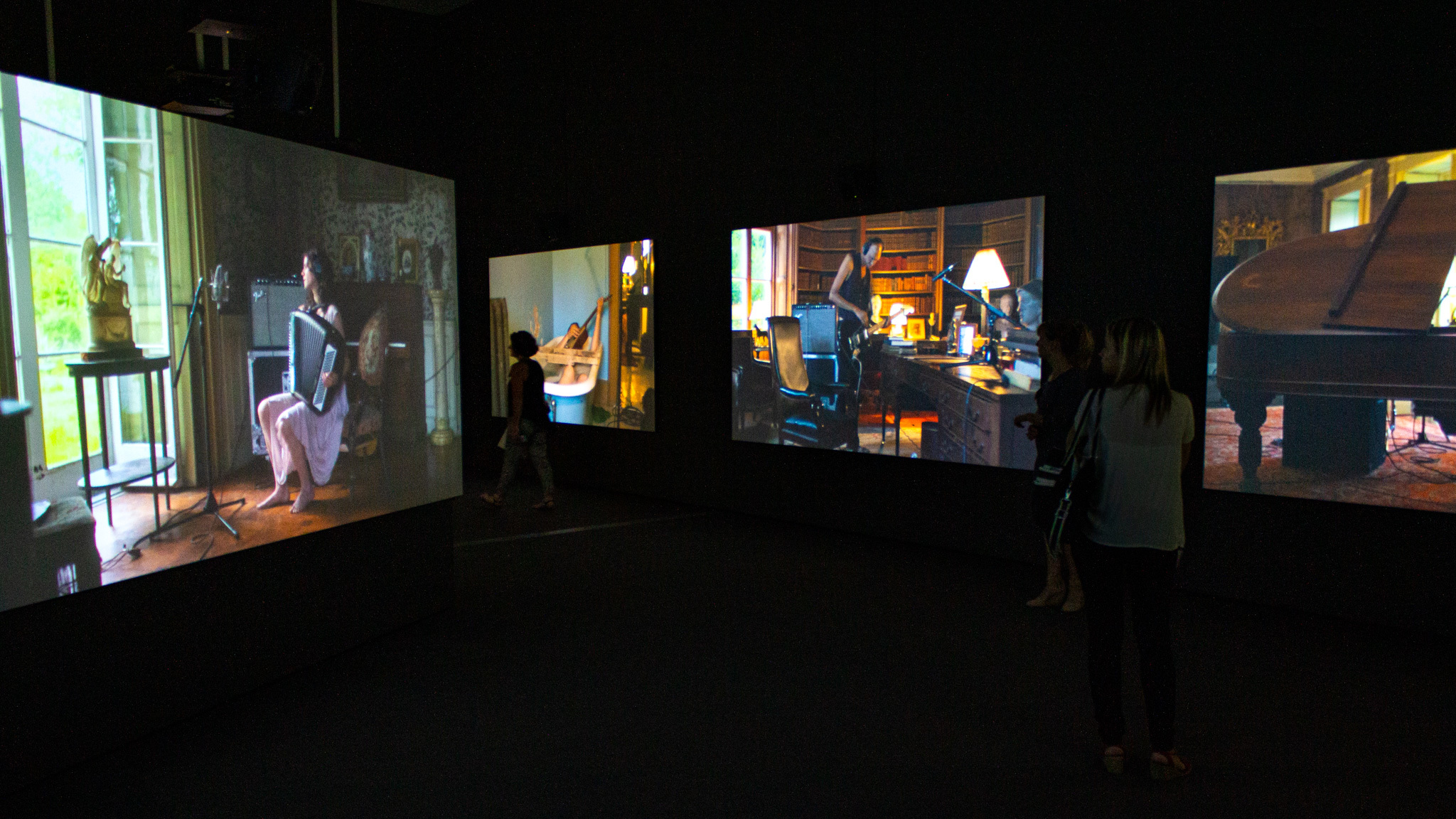 Watch this video of 'The Visitors,' the Broad's most moving piece of art
