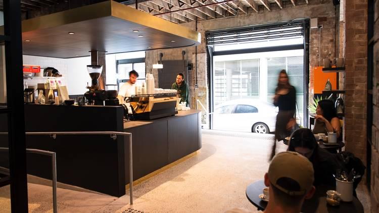 Inside restaurant at Old Gold Cafe