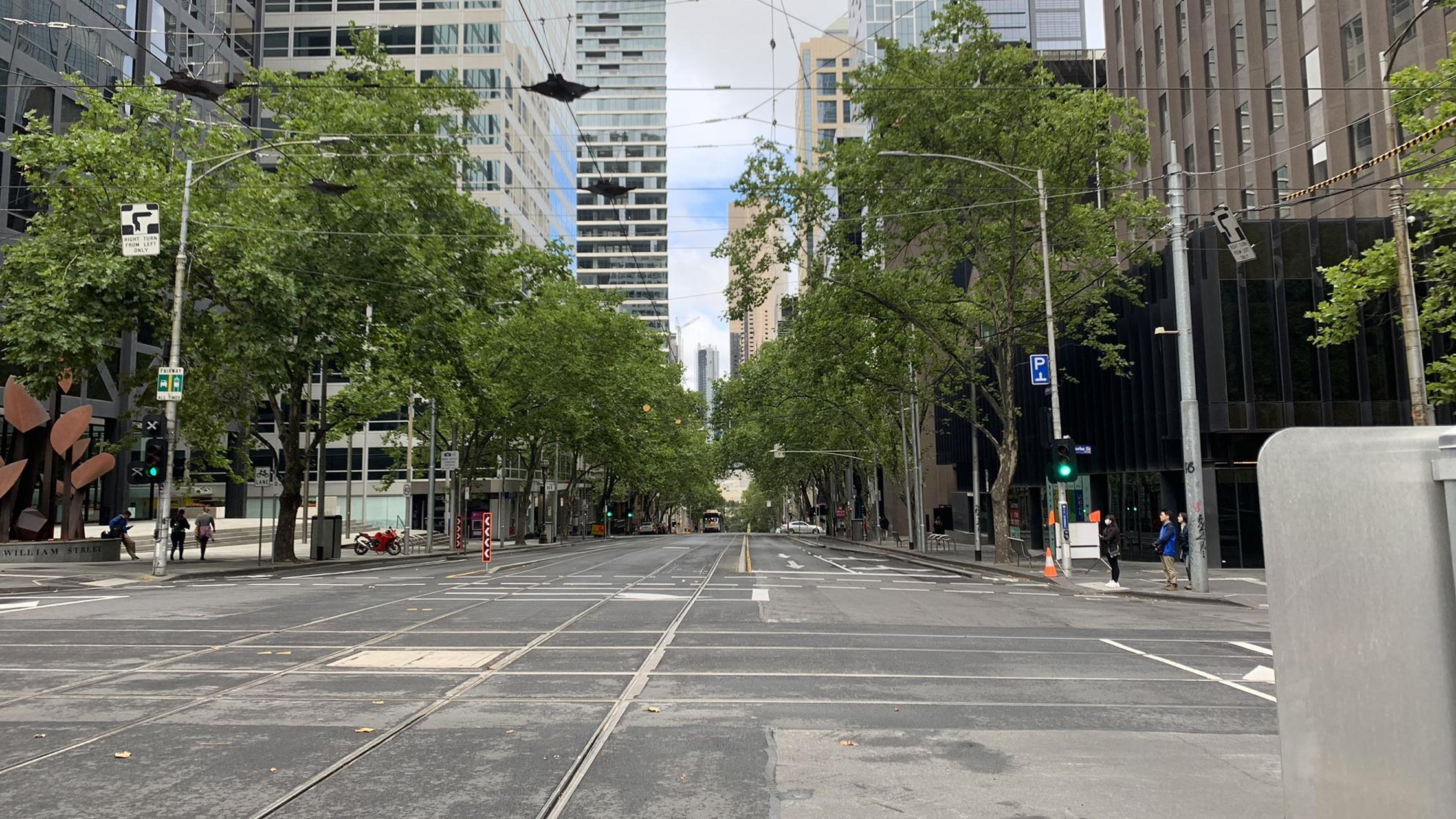 Deserted Melbourne Street