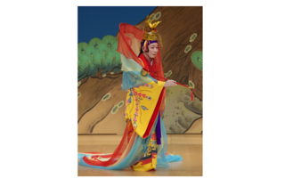 組踊『銘苅子』天女 ※写真は再現舞台イメージ