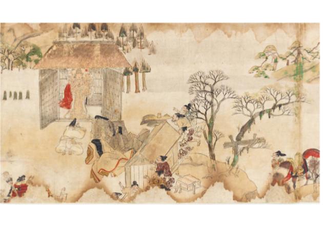 国宝「粉河寺縁起絵巻」(部分)平安時代(12世紀) 和歌山・粉河寺(4月11日~5月10日展示)