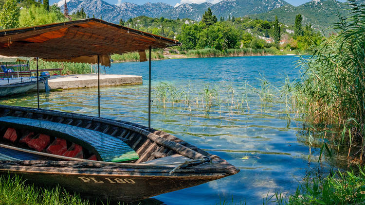 Diverse views and colours of the Baćina lakes