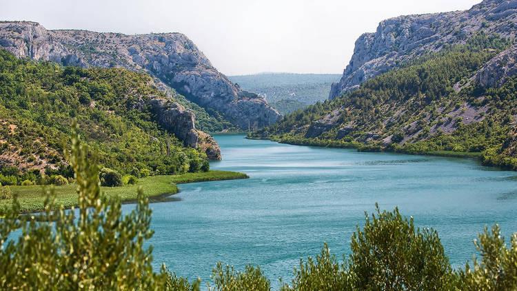 Pretty Prokljansko lake from below
