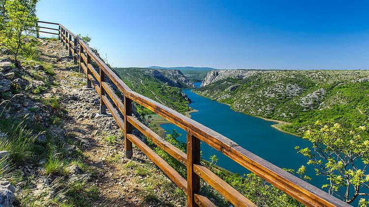 The wonderful waters of Torak lake near Šibenik