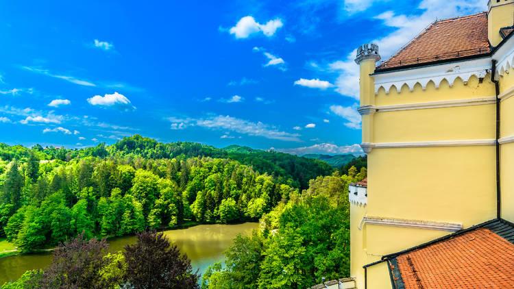 Trakošćan lake (and its namesake castle) in Zagorje county