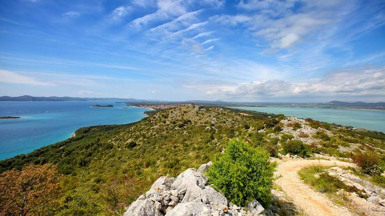 Central Dalmatia's Vrana lake on one side, the Adriatic on the other
