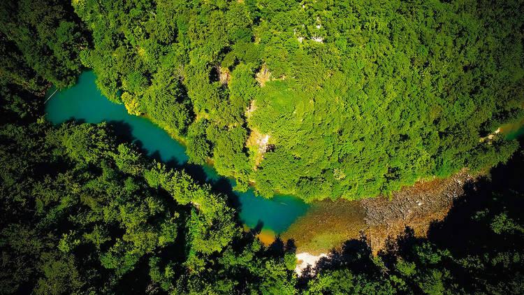 Kupa river in Risnjak National Park