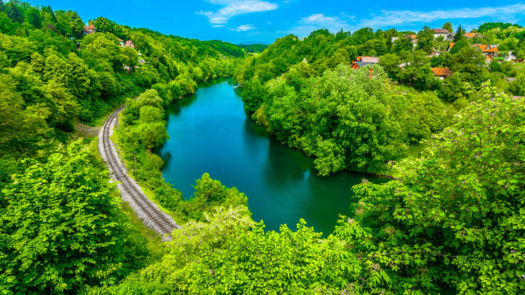 Kupa river's Karlovac county branch