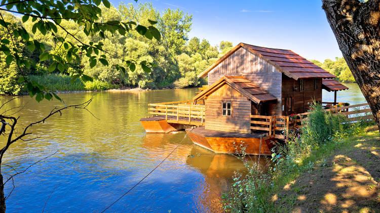 The Međimurje region's Mura river and old-school watermill