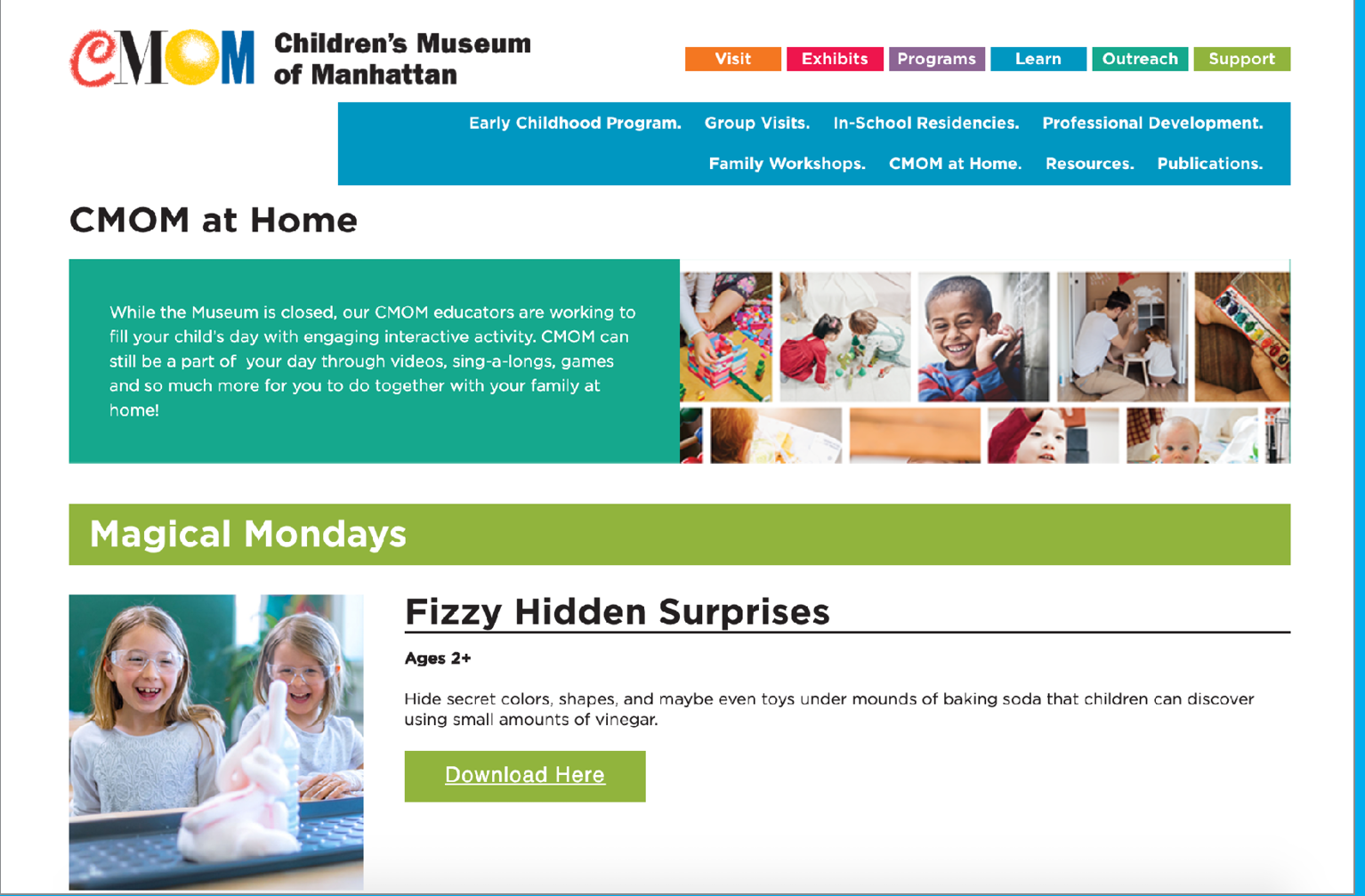 CMOM at Home from the Children's Museum of Manhattan