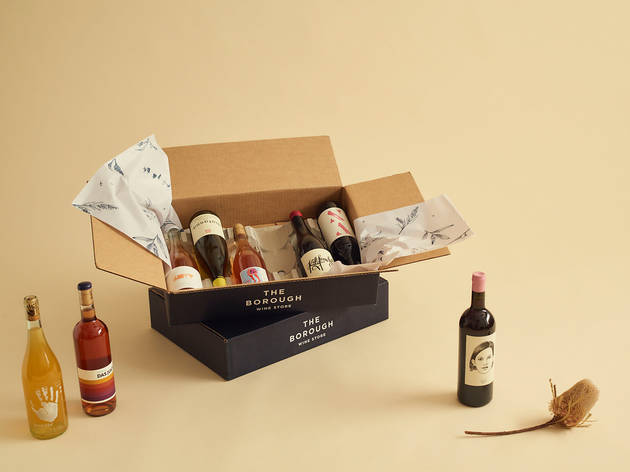 An open box with bottles of wine in it from the Borough Box.
