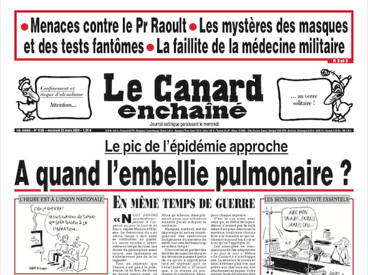 Lire pour la première fois en ligne Le Canard enchaîné