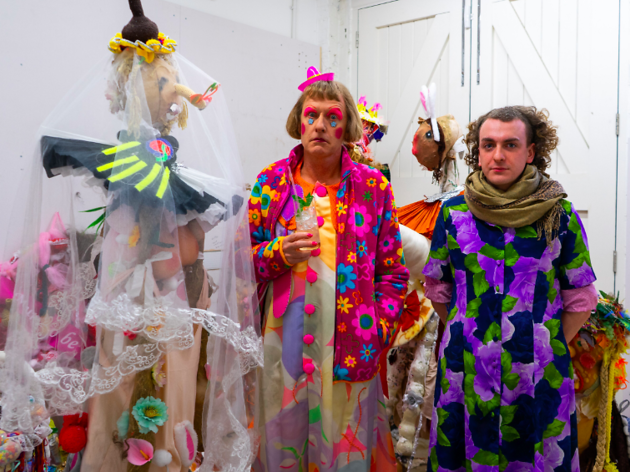 Grayson Perry with Joshua Beaty at Sarabande © Sarabande Foundation
