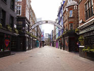Empty Carnaby Street during London lockdown