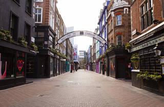 Empty Carnaby Street during London lockdown