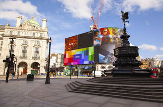 Empty Piccadilly Circus during London lockdown