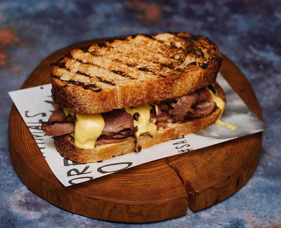 Salted and Hung Wagyu Pastrami Sandwich