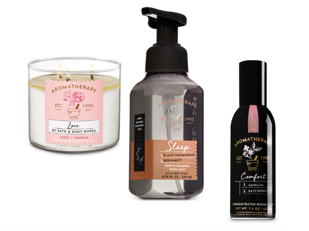 Velas y aromatizantes  Cortesía Bath & Body Works