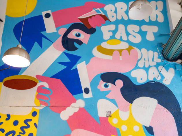 BAD! (breakfast all day),  mural