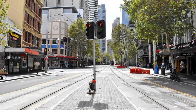 George Street during Sydney shutdown