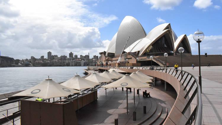 The Opera House and Opera Bar during shutdown