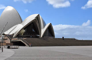 Sydney Opera House during shutdown