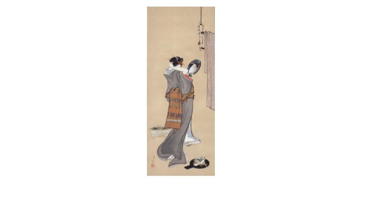 葛飾北斎《夏の朝》(部分)、19世紀初頭、岡田美術館