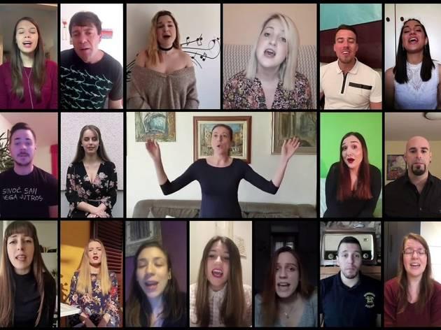 Rijeka youth choir make amazing online performance